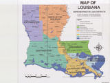 Map of Louisiana Representing the Land Districts