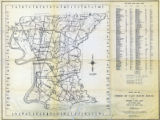 1958 Official Road Map of Parish of East Baton Rouge