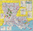 Louisiana Official Highway Map 1963
