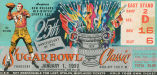 Ticket to the 1959 Sugar Bowl