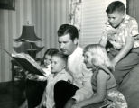 Mayor Jesse Webb Reading to his Children