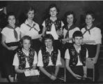 Camp Fire Girls in Ceremonial Vests
