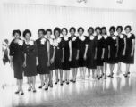 Group of Women in Black Dresses