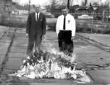 Fire Chief Edgar LeJeune Burns Flammable Dolls